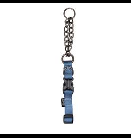 Dog & cat Zeus Martingale Dog Collar - Denim Blue - Medium - 1.5 cm x 38 cm-45 cm (1/2in x 15in-18in)