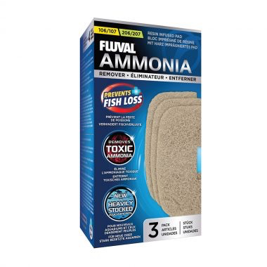 Aquaria (W) FL106/206, 107/207 Ammonia Remover Pad, 3pcs