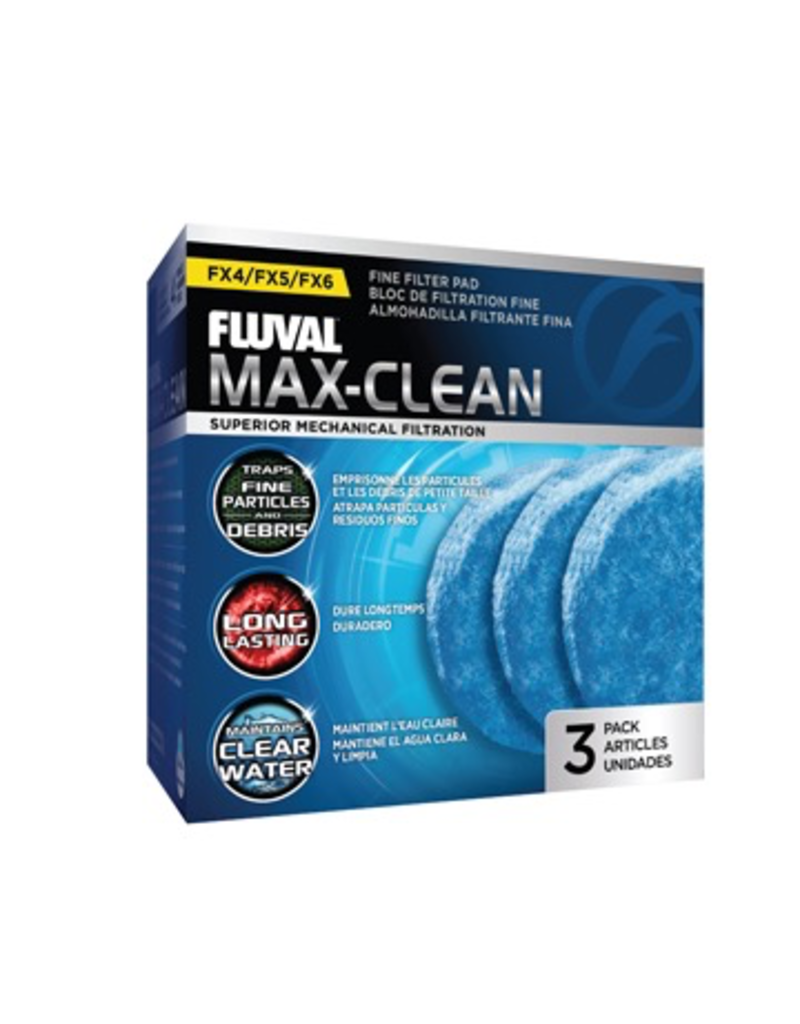 Aquaria (W) FX4/FX5/FX6 Max-Clean Fine Filter Pads - 3 pack