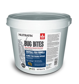 Aquaria (W) Nutrafin Bug Bites Tropical Formula  Medium to Large Fish - 1.4 - 2.0 mm granules, 1.7 kg (3.7 lbs)