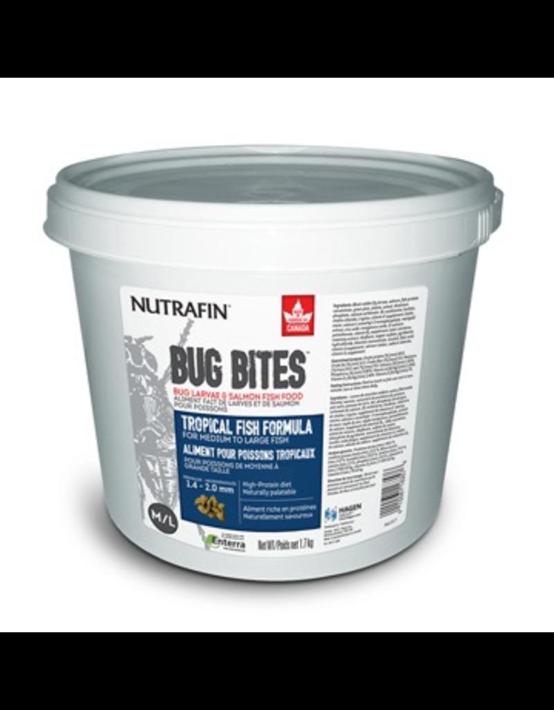 Aquaria (W) Nutrafin Bug Bites Tropical Formula  Medium to Large Fish - 1.4 - 2.0 mm granules, 1.7 kg (3.7 lbs)