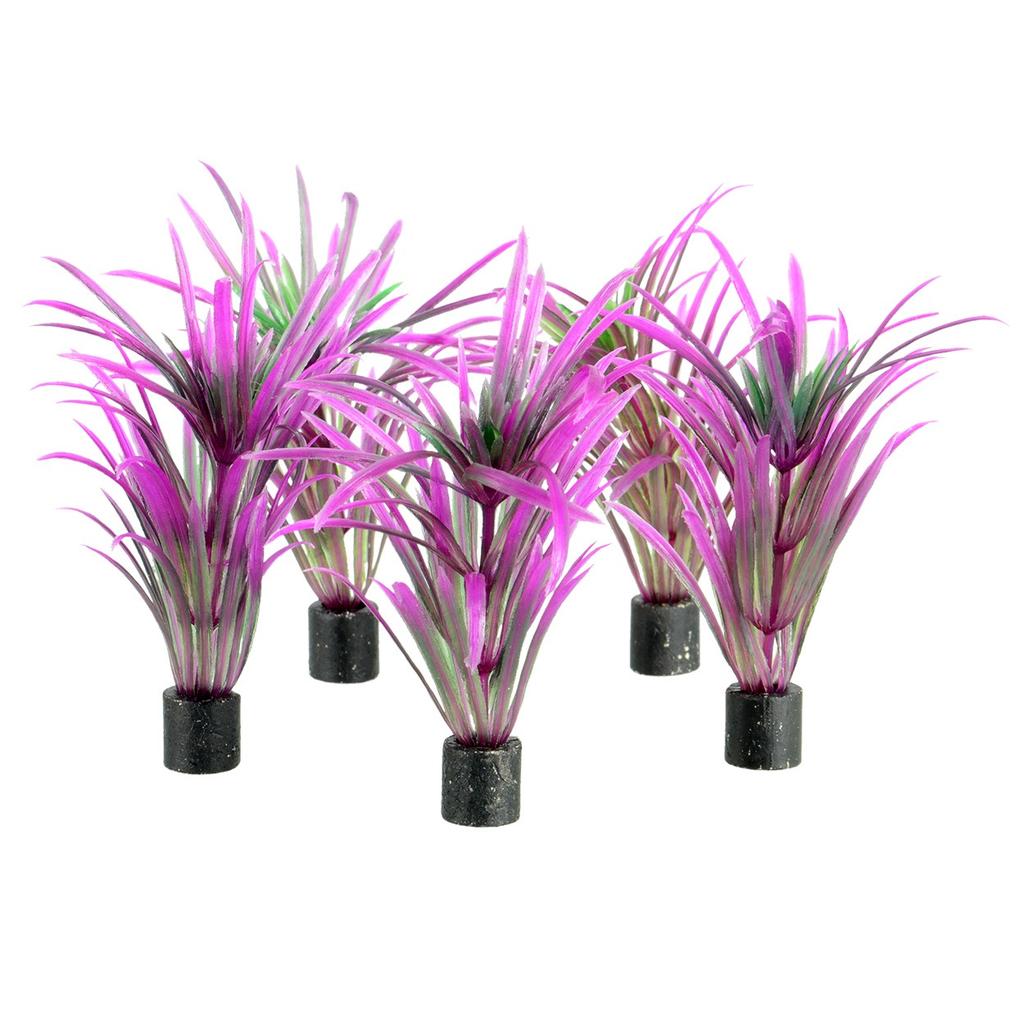 "Aquaria UT Mini Plant - Purple Grass - 3"" - 5 pk"
