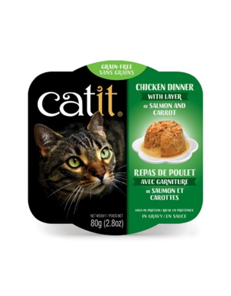 Dog & cat Catit Chicken Dinner with Salmon & Carrots - 80 g (2.8 oz)