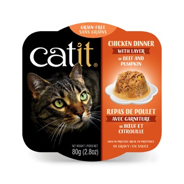 Dog & cat Catit Chicken Dinner with Beef & Pumpkin - 80 g (2.8 oz)