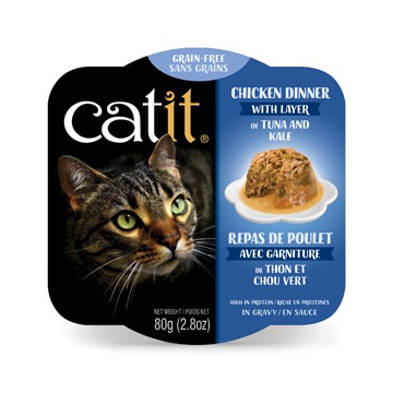 Dog & cat Catit Chicken Dinner with Tuna & Kale - 80 g (2.8 oz)