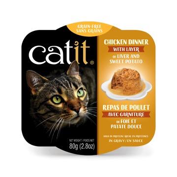 Dog & cat Catit Chicken Dinner with Liver & Sweet Potato - 80 g (2.8 oz)