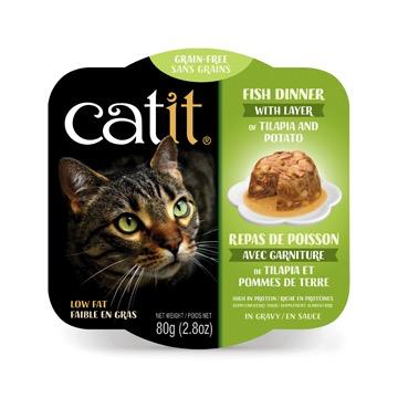Dog & cat Catit Fish Dinner with Tilapia & Potato - 80 g (2.8 oz)