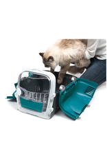 Dog & cat (W) Catit Cabrio Carrier - Turquoise - 51 L x 33 W x 35 H cm (20 x 13 x 13.75 in)