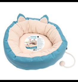 Dog & cat (D) Vesper Cat Bed - XLarge - Blue - 60 x 60 x 20 cm (23.6 x 23.6 x 7.8)