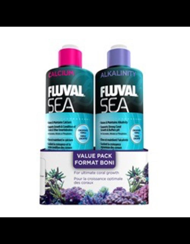 Aquaria (D) Fluval Sea Calcium/ Alkalinity, Value Pack, 473 mL