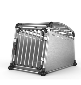 Dog & cat (D) AFP – Travel Dog - Aluminium Travel Crate – Large - 25 x 27 x 35 in