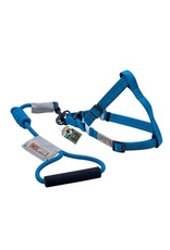 Dog & cat (D) Arista Round Harness & Leash Set - Large - Deep Blue