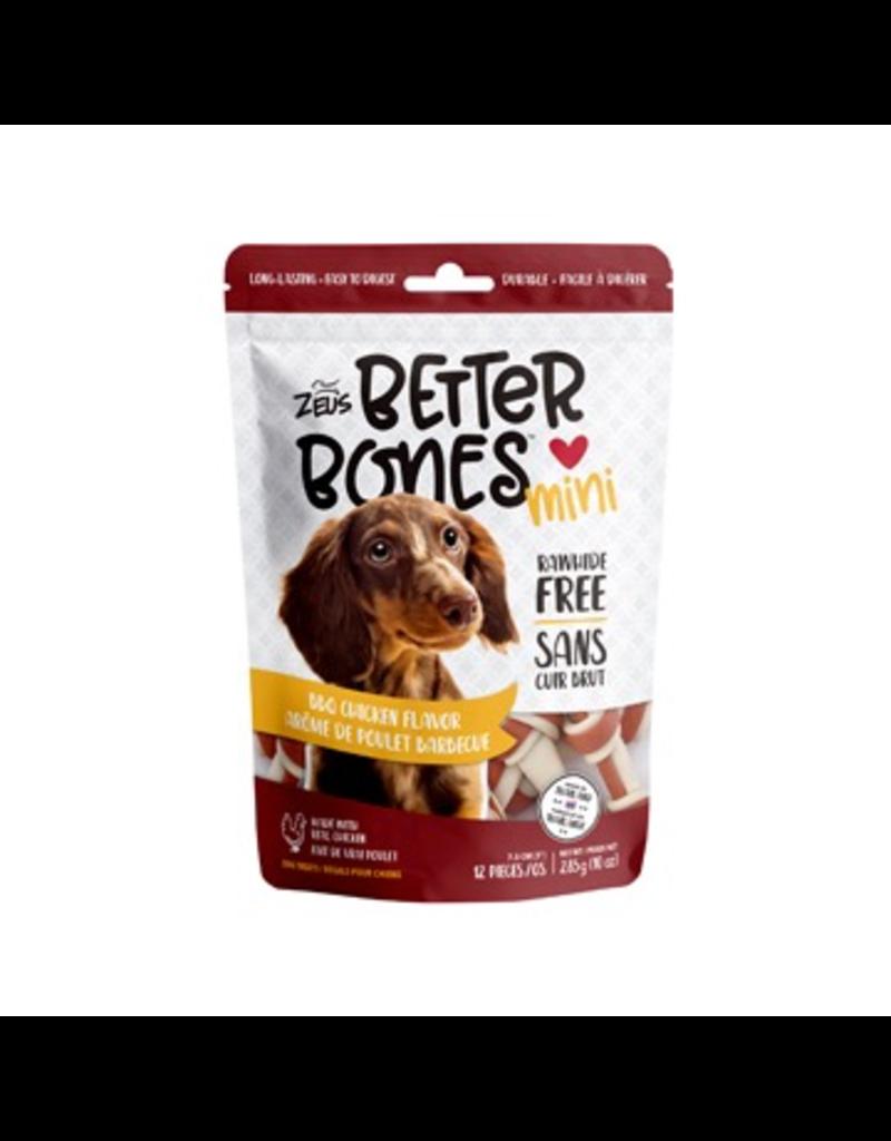 Dog & cat Zeus Better Bones - BBQ Chicken Flavor - Mini Bones - 12 pack