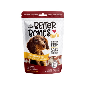 Dog & cat Zeus Better Bones - BBQ Chicken Flavor - Mini Bones - 12 pack