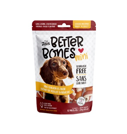Dog & cat Zeus Better Bones - BBQ Chicken Flavor - Chicken-Wrapped Mini Bones - 12 pack