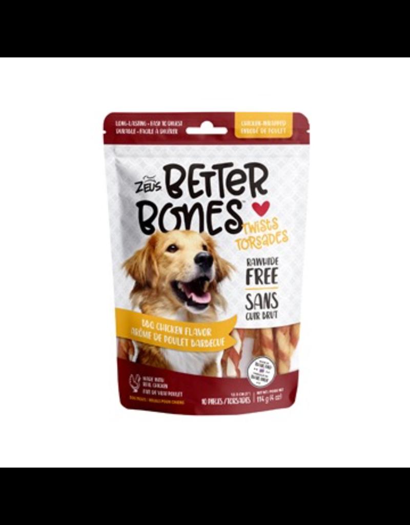 Dog & cat Zeus Better Bones - BBQ Chicken Flavor - Chicken-Wrapped Twists - 10 pack