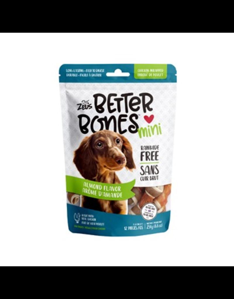 Dog & cat Zeus Better Bones - Almond Flavor - Chicken-Wrapped Mini Bones - 12 pack