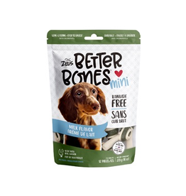 Dog & cat Zeus Better Bones - Milk Flavor - Mini Bones - 12 pack