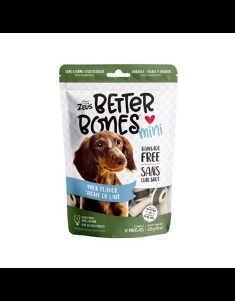 Dog & cat Zeus Better Bones - Milk Flavor - Mini Bones - 12 pack