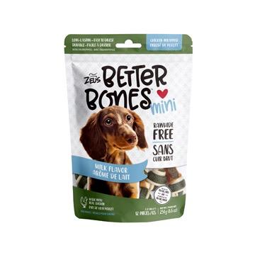 Dog & cat Zeus Better Bones - Milk Flavor - Chicken-Wrapped Mini Bones - 12 pack