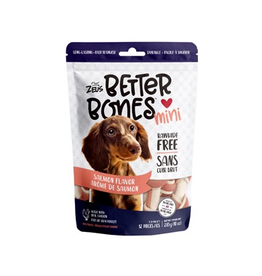 Dog & cat Zeus Better Bones - Salmon Flavor - Mini Bones - 12 pack