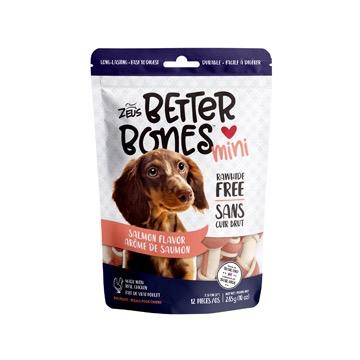 Dog & cat Zeus Better Bones - Salmon Flavor - Mini Bones - 12 pack