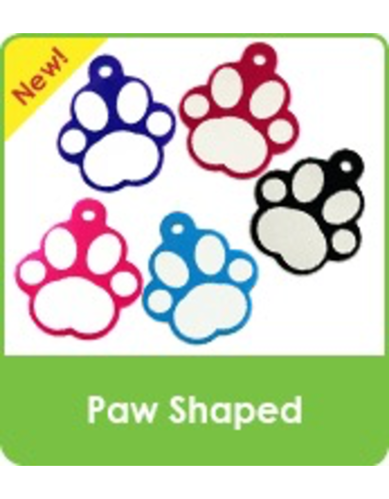 Dog & cat Designer & Paw Shaped (one side engraving only)