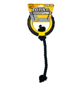 "Dog & cat Tonka Mega Tread Rope Tug, 6"""