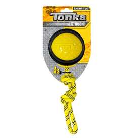 Dog & cat (W) Tonka Diamond Clad Rope Ball, 4""
