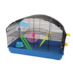 Small Animal Living World Dwarf Hamster Cage - Villa - 58 cm L x 32 cm W x 41 cm H (22.8 x 12.5 x 16.1 in)