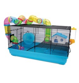 Small Animal (W) Living World Dwarf Hamster Cage - Playhouse - 58 cm L x 32 cm W x 31.5 cm H (22.8 x 12.5 x 12.4 in)