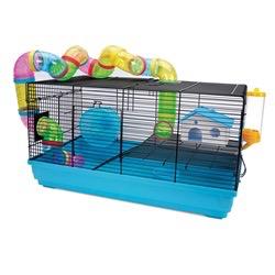 Small Animal (W) Living World Dwarf Hamster Cage - Playhouse - 58 cm L x 32 cm W x 31.5 cm H (22.8 x 12.5 x 12.4 in)