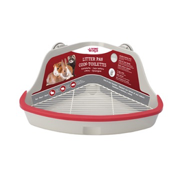 Small Animal Living World Small Animal Corner Litter Pan - Gray - LARGE - 41.5 cm L x 29 cm W x 20 cm H (16.3 x 11.4 x 7.8 in)