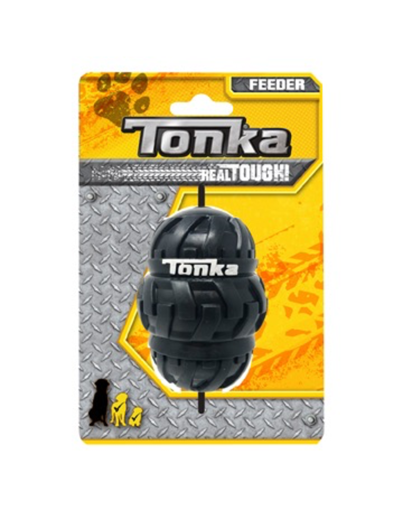 "Dog & cat Tonka Tri-Stack Tread Feeder, Medium, 3.5"""