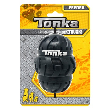 Dog & cat (W) Tonka Tri-Stack Tread Feeder, Large, 4""