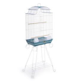 "Bird (W) PH Pagoda Roof Bird Cage with Stand - Blue - 20"" x 14"" x 56.75"""