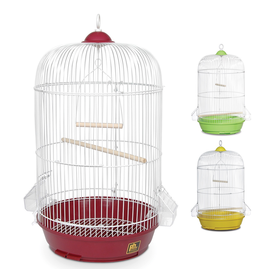 "Bird (W) PH Small Round Bird Cage - Assorted Colors - Multipack - 12.75"" dia x 26"""