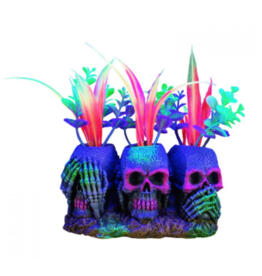 Aquaria Marina iGlo 3 Skulls with Plants, 3""