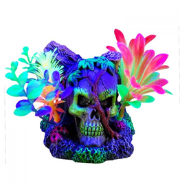 Aquaria Marina iGlo Skull with Vines with Plants, 3""
