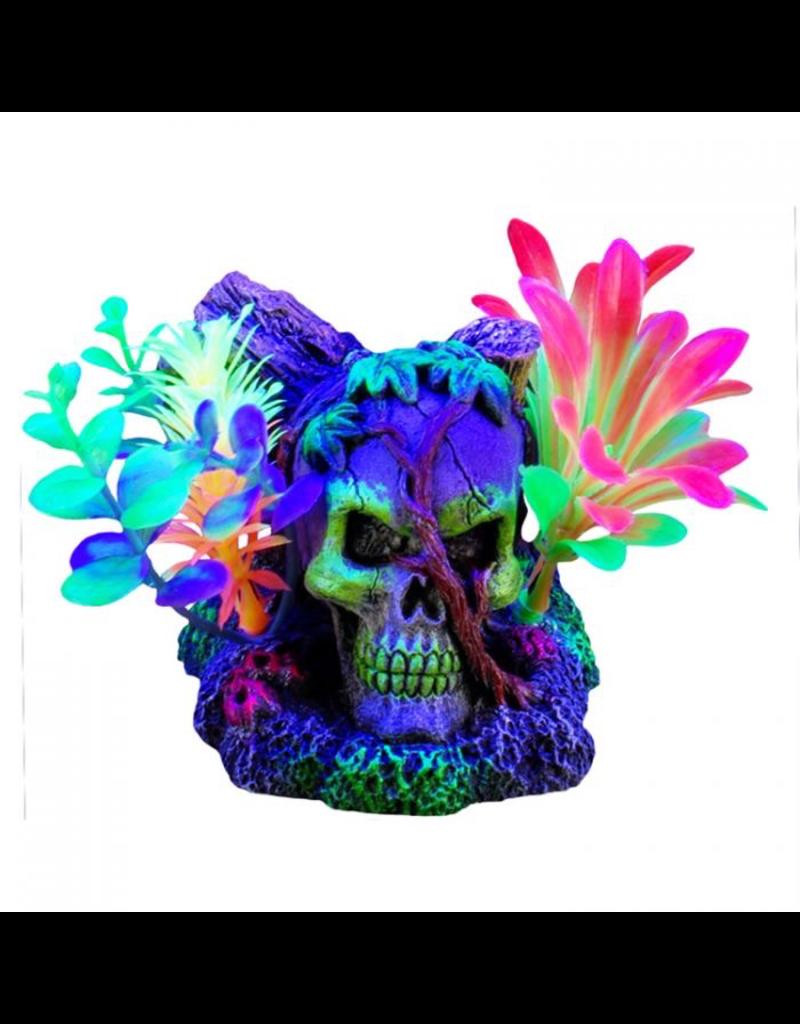 "Aquaria Marina iGlo Skull with Vines with Plants, 3"""