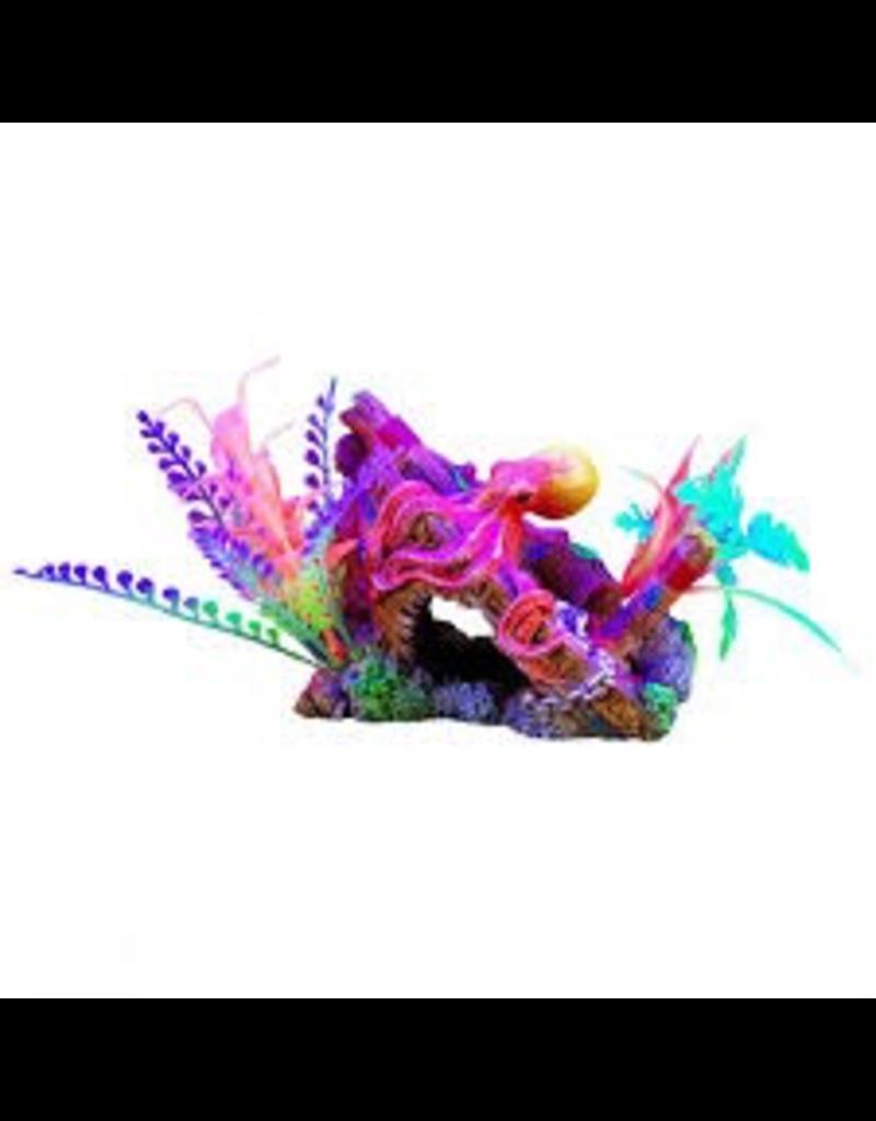 "Aquaria Marina iGlo Ship's Bow with Octopus and Plants, 4"""
