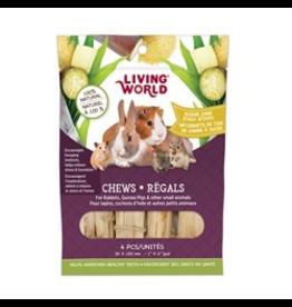 "Small Animal Living World Small Animal Chews, Sugar Cane Stalk Sticks, 4 pcs, 1 x 4"""