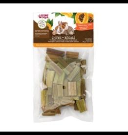 Small Animal Living World Small Animal Chews, Papaya Stalk Cubes, 20 g