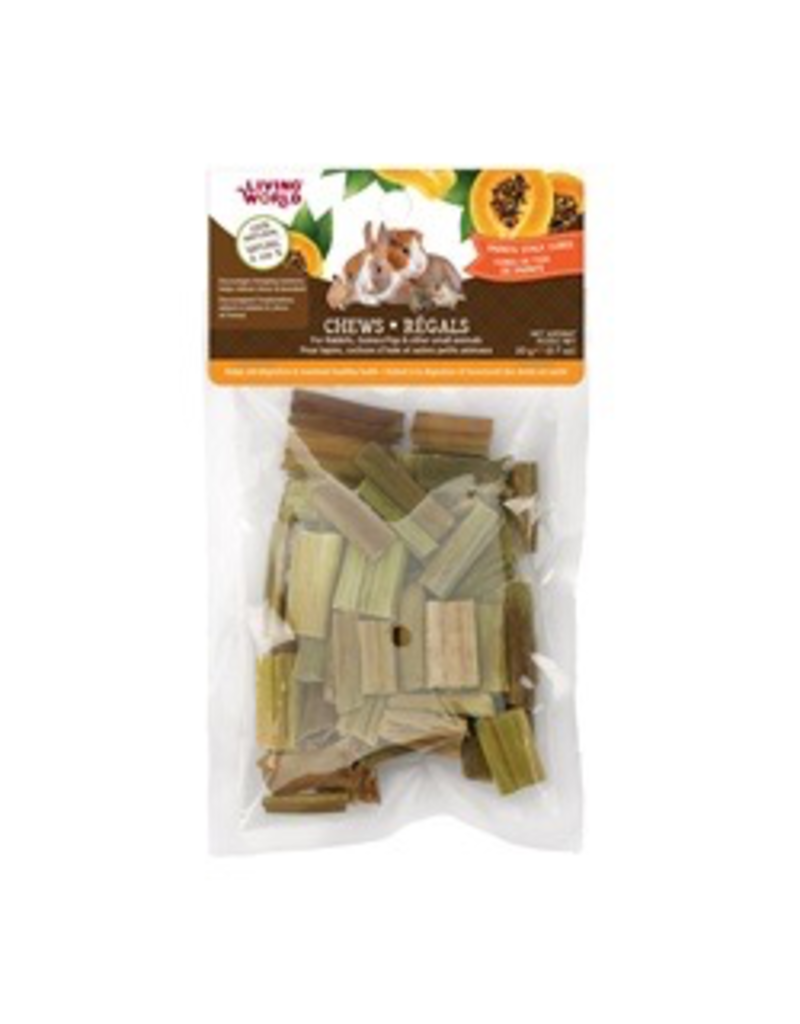 Small Animal Living World Small Animal Chews, Papaya Stalk Cubes, 20 g