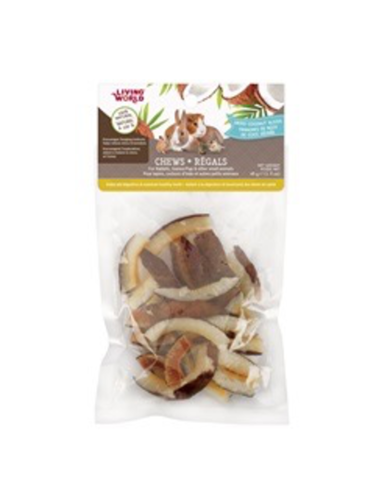 Small Animal Living World Small Animal Chews, Dried Coconut Chips, 45 g