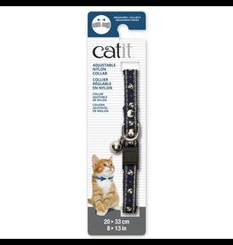 Dog & cat Catit Adjustable Breakaway Nylon Collar with Rivets - Blue Nautical - 20-33 cm (8-13 in)