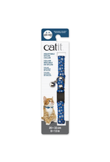 Dog & cat Catit Adjustable Breakaway Nylon Collar with Rivets - Blue with Flowers - 20-33 cm (8-13 in)