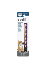 Dog & cat Catit Adjustable Breakaway Nylon Collar - Purple with Pink Bows - 20-33 cm (8-13 in)