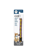 Dog & cat Catit Adjustable Breakaway Nylon Collar - Purple with Flowers - 20-33 cm (8-13 in)