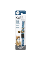Dog & cat Catit Adjustable Breakaway Nylon Collar with Rivets - Blue with Pink Hearts - 20-33 cm (8-13 in)